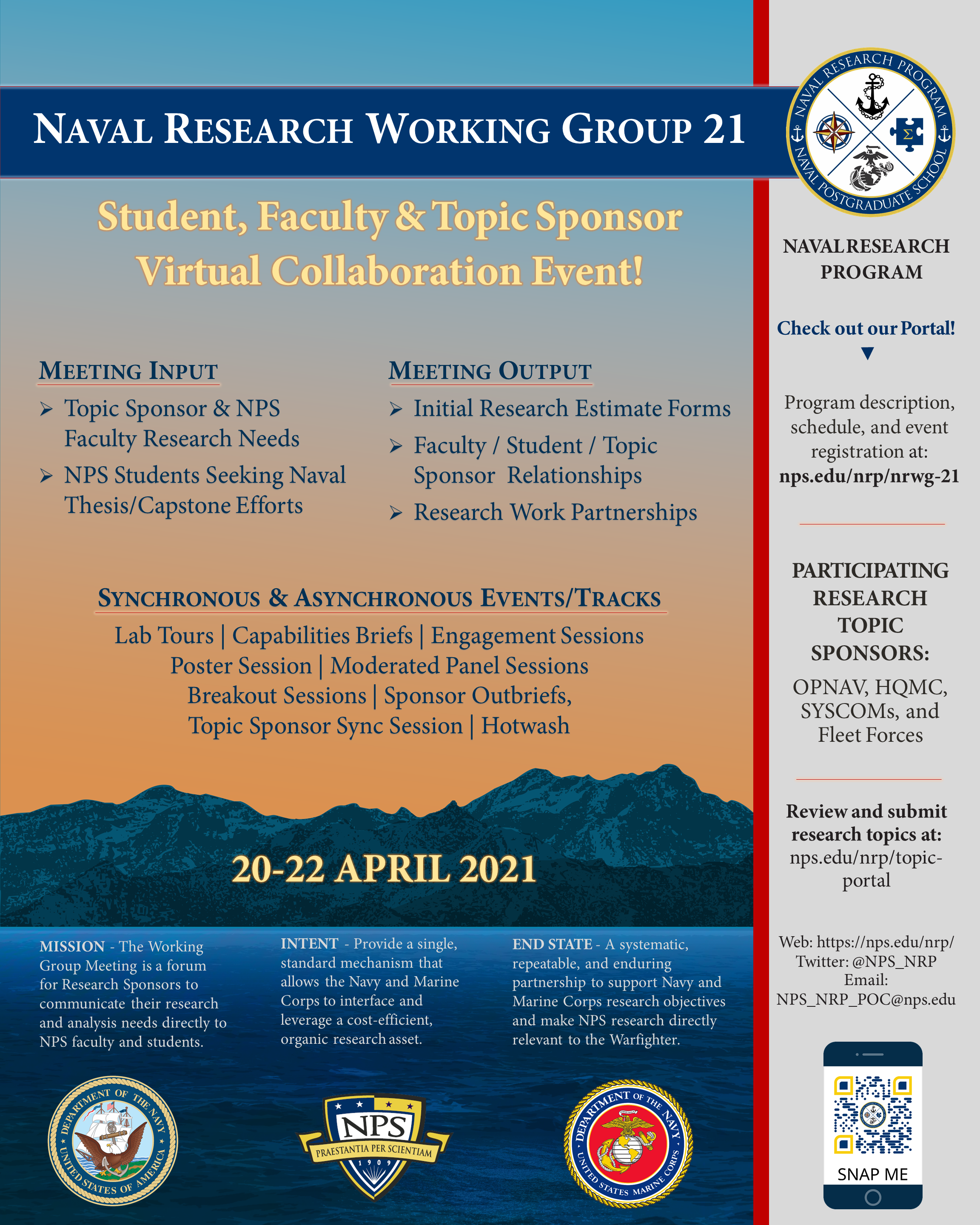 NRWG21 Event Poster
