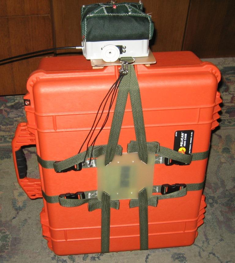 Figure C. Detachable guidance unit mounted on Pelican 1200 (a) and Pelican 1600 (b) class cases.
