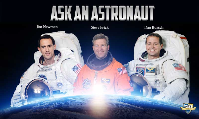 """NPS Hosts """"Ask an Astronaut"""" Connecting Military Children with Space Veterans"""