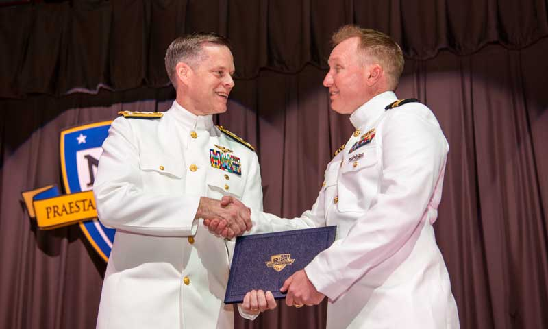DCNO for Warfighting Development Honors NPS Graduates During In-Person Ceremony