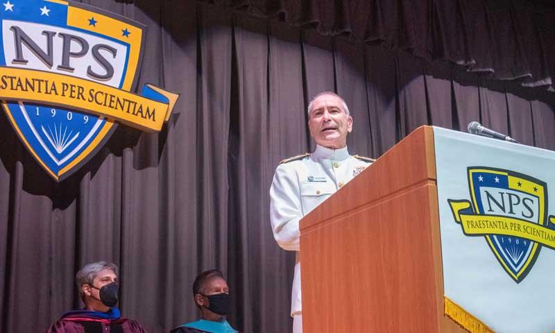 "Navy ""SWO Boss"" Honors Accomplishments of NPS Summer Graduates"
